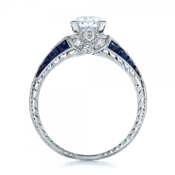 and blue sapphire engagement ring 100390