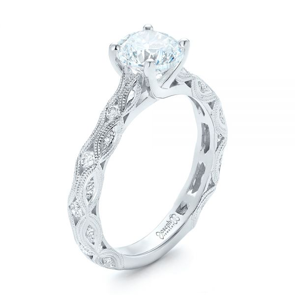 Diamond in Filigree Engagement Ring - Image