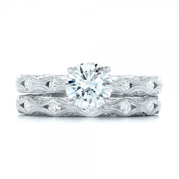 Diamond in Filigree Engagement Ring