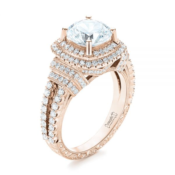343da2222fafc Double Halo Diamond Engagement Ring