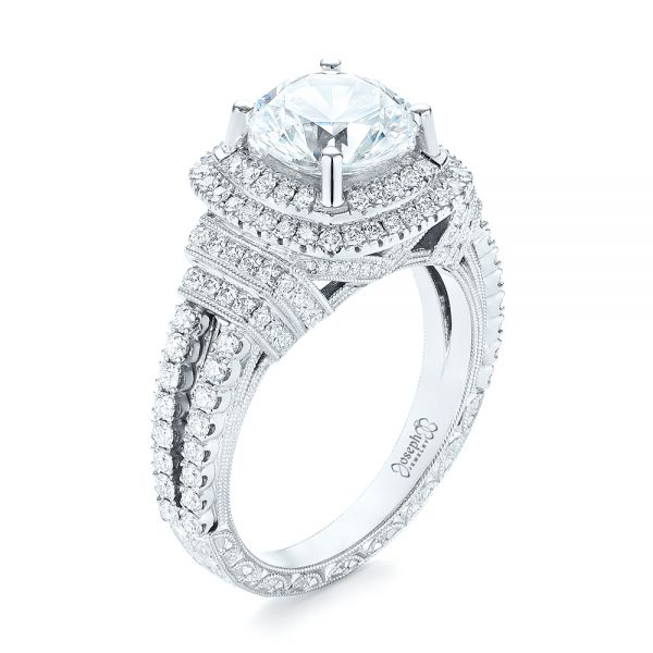 Double Halo Diamond Engagement Ring - Image