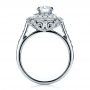 18K Gold Double Halo Engagement Ring - Vanna K - Front View -  100088 - Thumbnail
