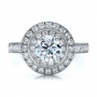 18K Gold Double Halo Engagement Ring - Vanna K - Top View -  100088 - Thumbnail