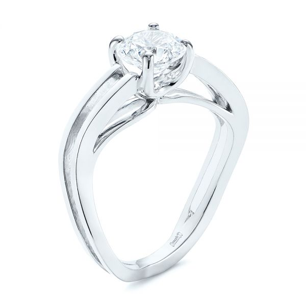 Double Strand Solitaire Diamond Engagement Ring - Image