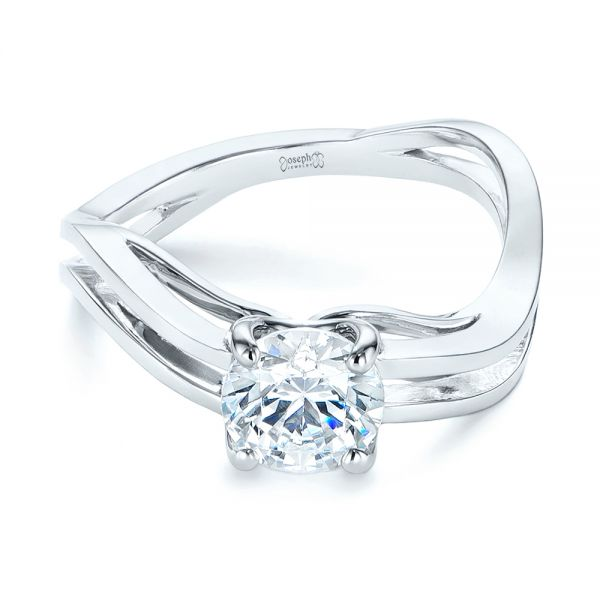 Double Strand Solitaire Diamond Engagement Ring
