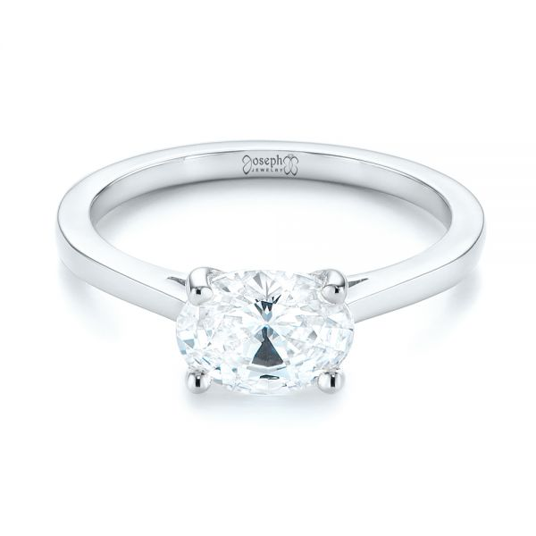 East-West Solitaire Diamond Engagement Ring