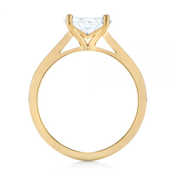 14k Yellow Gold East-west Solitaire Diamond Engagement Ring - Front View -  104659