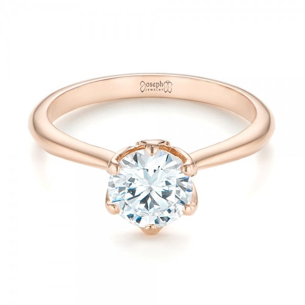 Elegant Solitaire Engagement Ring - Laying View
