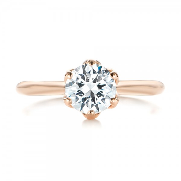 Elegant Solitaire Engagement Ring - Top View