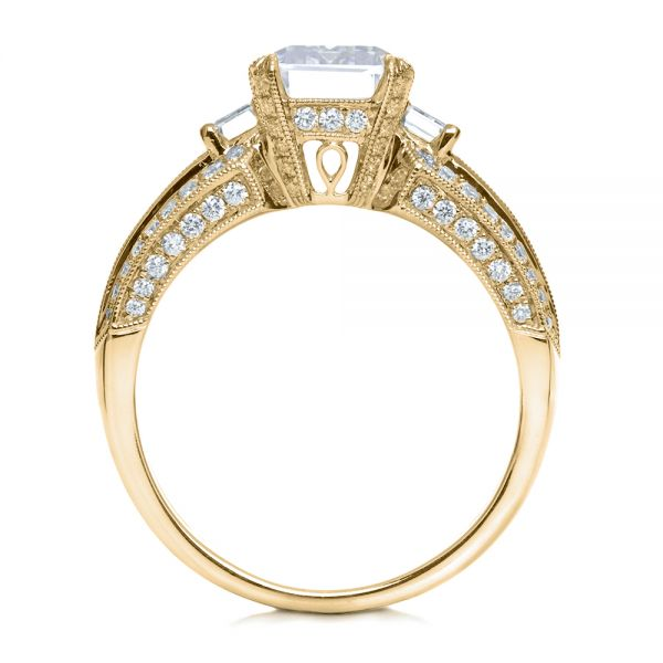 14k Yellow Gold 14k Yellow Gold Emerald Cut Diamond Engagement Ring - Front View -