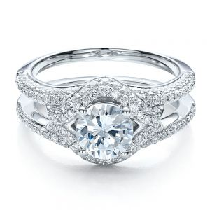 Engagement Ring with Eternity Band