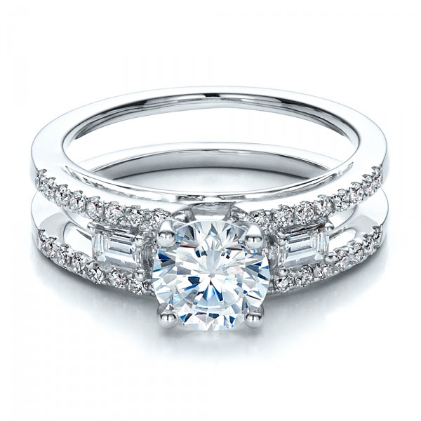 Engagement Ring with Matching Eternity Band