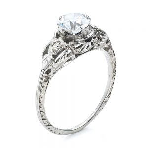 Estate Diamond Art Deco Engagement Ring - Image