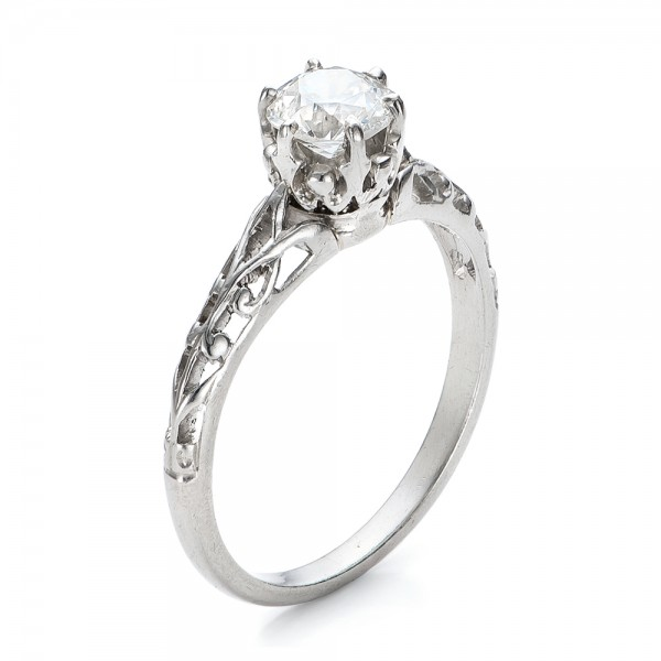 Estate Solitaire Diamond Edwardian Engagement Ring 100896