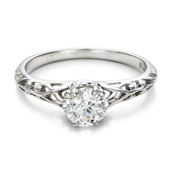 Estate Solitaire Diamond Edwardian Engagement Ring