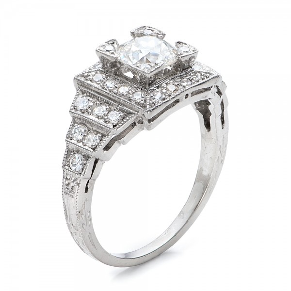 estate diamond engagement ring 100899 - Estate Wedding Rings
