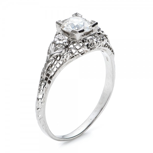Estate Solitaire Diamond Art Deco Engagement Ring 100898