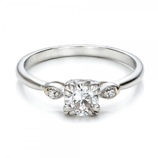 Estate Three Stone Diamond Engagement Ring