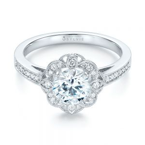 Fancy Halo Diamond Engagement Ring