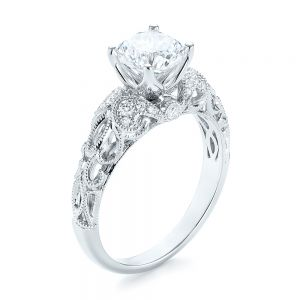 Filigree Diamond Engagement Ring - Image