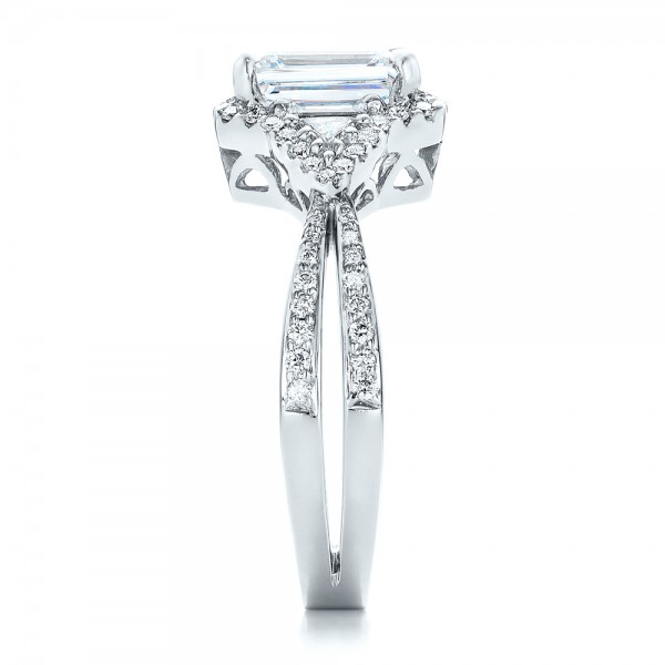 Five Stone Diamond Engagement Ring - Side View