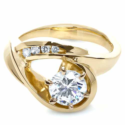 Gold Diamond Engagement Ring