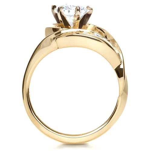 Gold Diamond Engagement Ring - Front View -  217 - Thumbnail