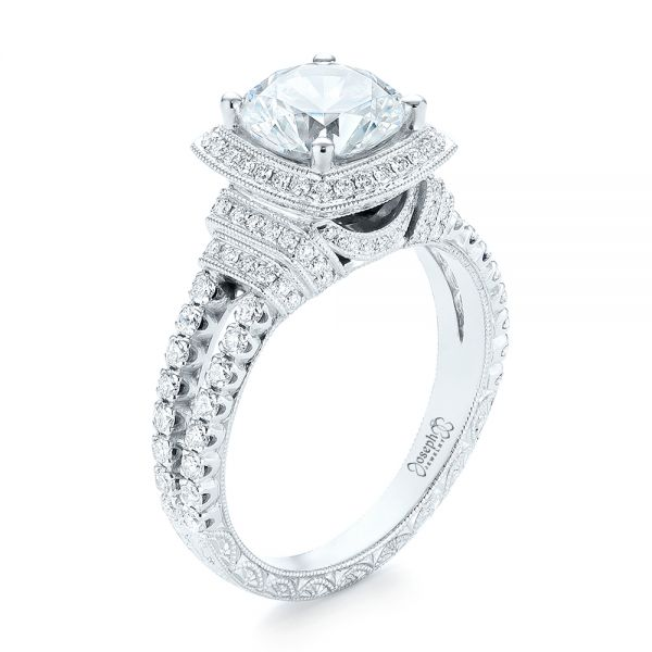 Halo Diamond Engagement Ring - Image