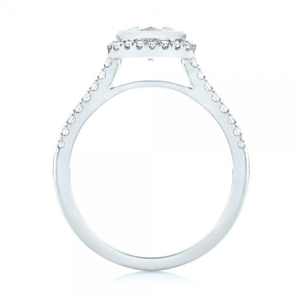 Halo Diamond Engagement Ring - Front View -  103083 - Thumbnail