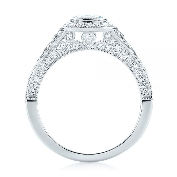 Halo Diamond Engagement Ring - Front View -  103097 - Thumbnail
