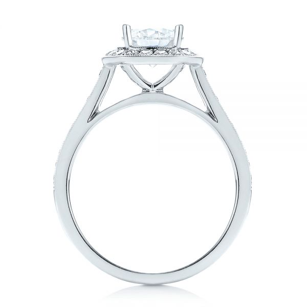 Halo Diamond Engagement Ring - Front View -  103828 - Thumbnail
