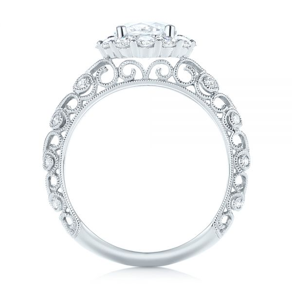 Halo Diamond Engagement Ring - Front View -  103900 - Thumbnail