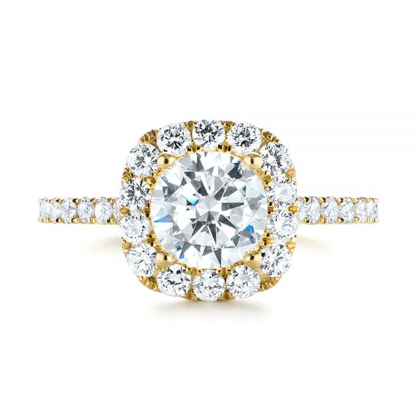 Halo Diamond Engagement Ring - Top View -  104021 - Thumbnail