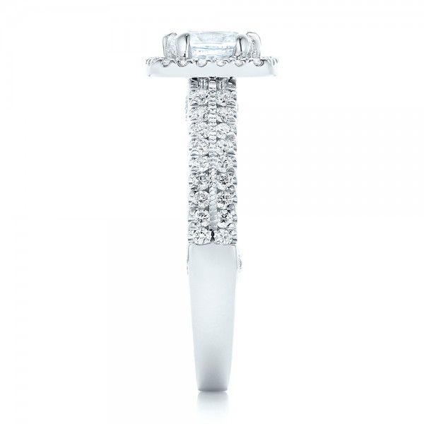 Halo Diamond Engagement Ring - Side View