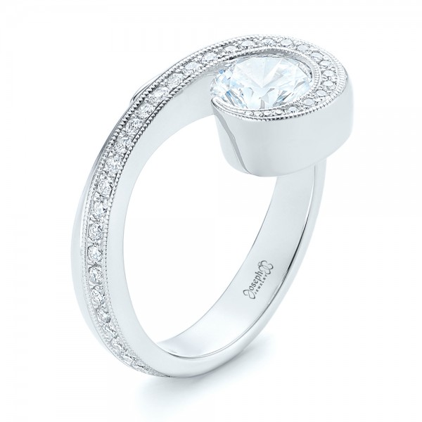 Halo Loop Diamond Engagement Ring