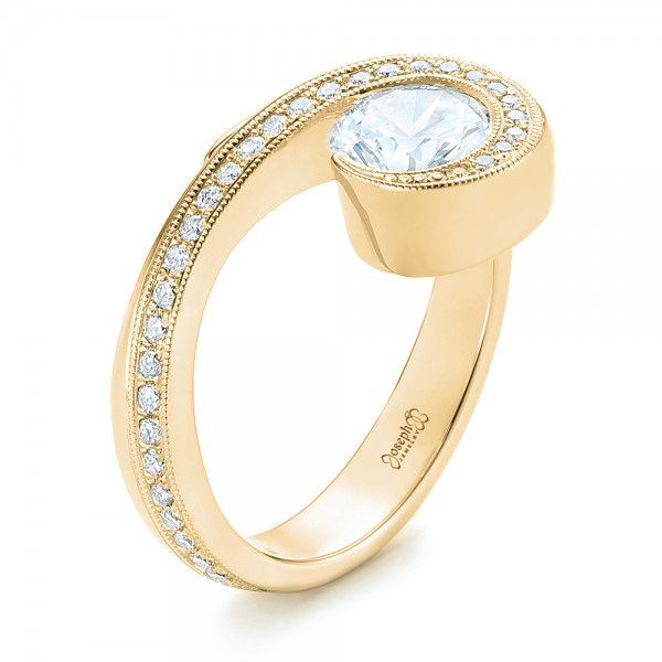 Halo Loop Diamond Engagement Ring - Image