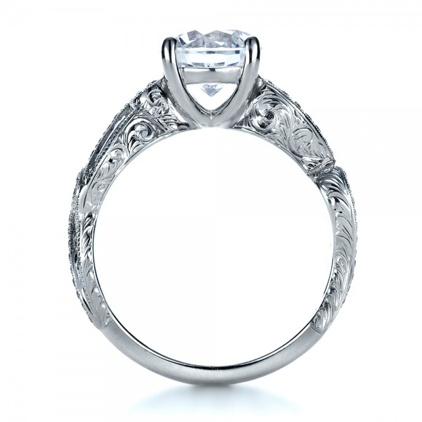 engraved engagement ring 1261
