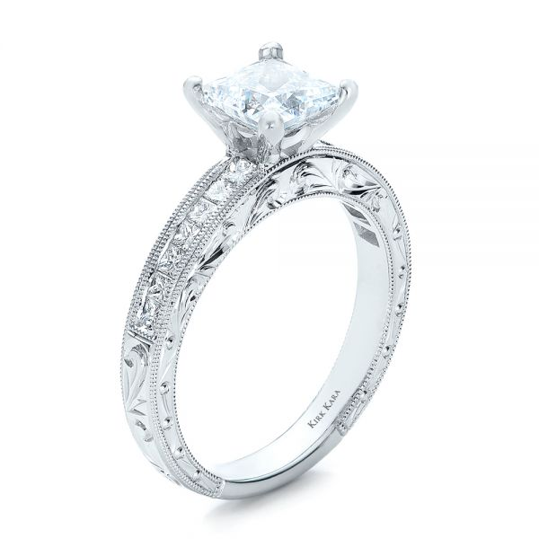 Fancy Yellow Diamond With Halo Engagement Ring #100564