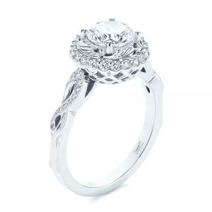 Infinity Diamond Halo Engagement Ring - Image