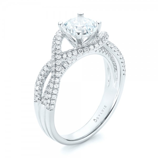 Intertwined Diamond Engagement Ring