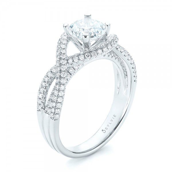 Intertwined Diamond Engagement Ring - Image