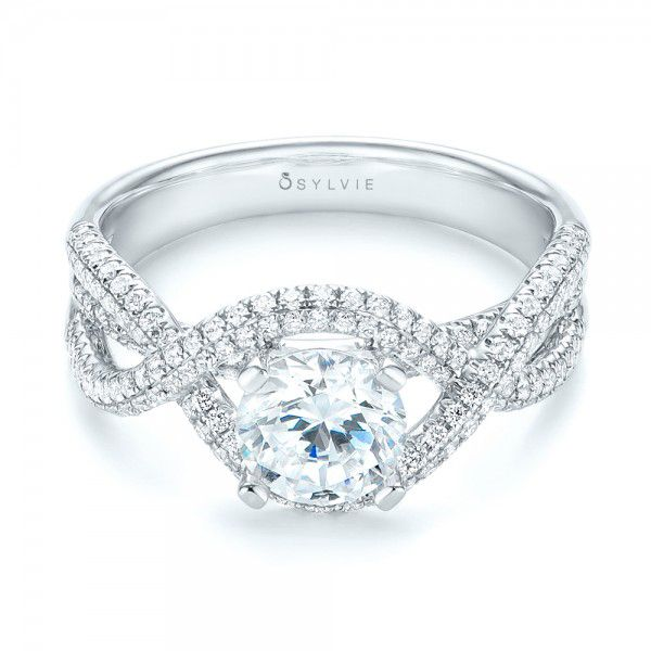 Intertwined Diamond Engagement Ring -  103080