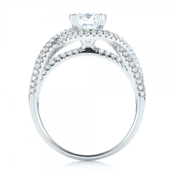 Intertwined Diamond Engagement Ring - Front View -  103080 - Thumbnail