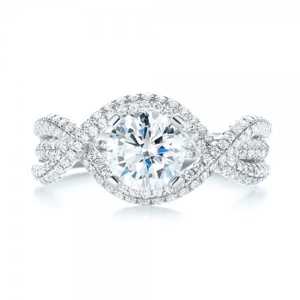 Intertwined Diamond Engagement Ring 103080