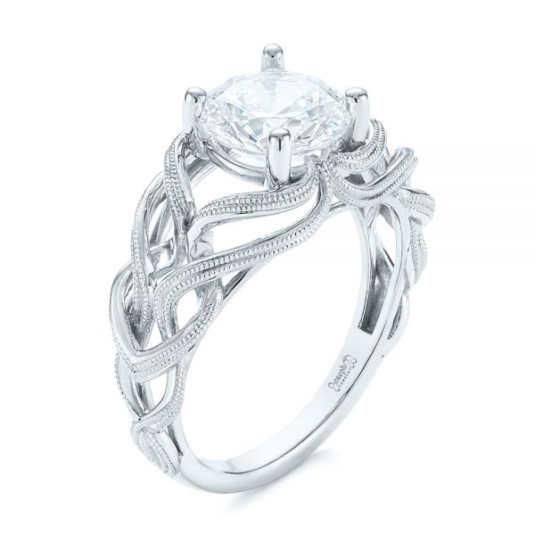 Intertwined Solitaire Diamond Engagement Ring - Image