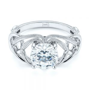 Intertwined Solitaire Diamond Engagement Ring