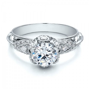 Knife Edge Diamond Engagement Ring - Vanna K