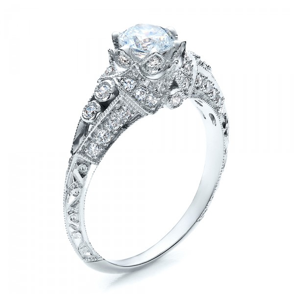 Knife Edge Engagement Ring - Vanna K - 3/4 View