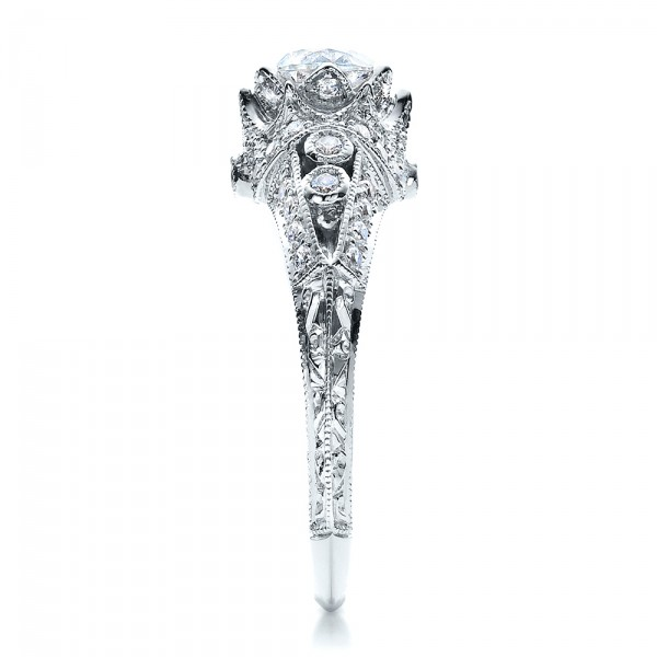 Knife Edge Engagement Ring - Vanna K - Side View