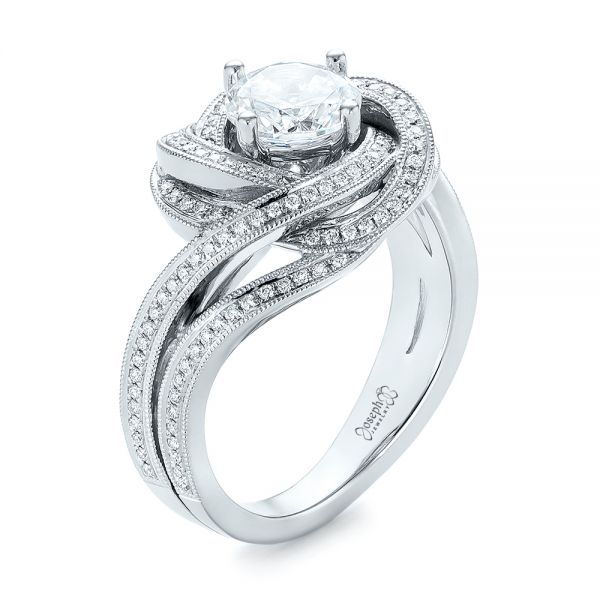 Knot Diamond Engagement Ring